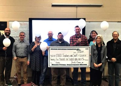 Mulvane Kansas High School 2019 Grant Check from Mulvane Education Foundation