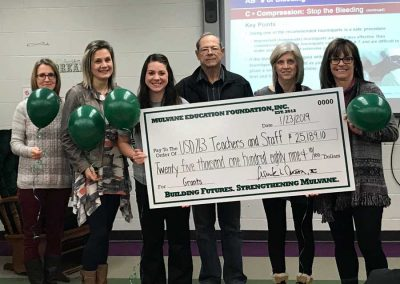 Mulvane Kansas Primary School 2019 Grant Check from Mulvane Education Foundation
